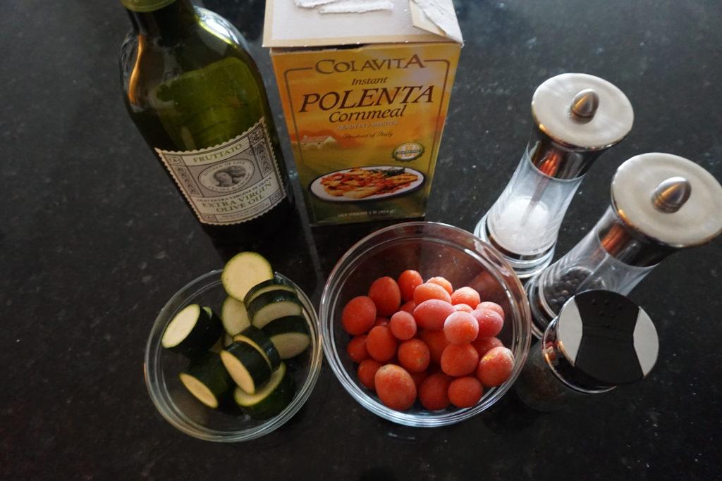 Polenta & Vegetable Ingredients.