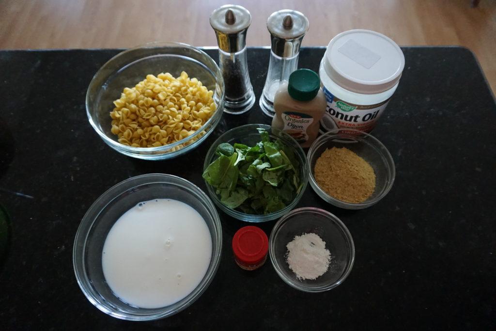 FODMAP macaroni and cheese ingredients