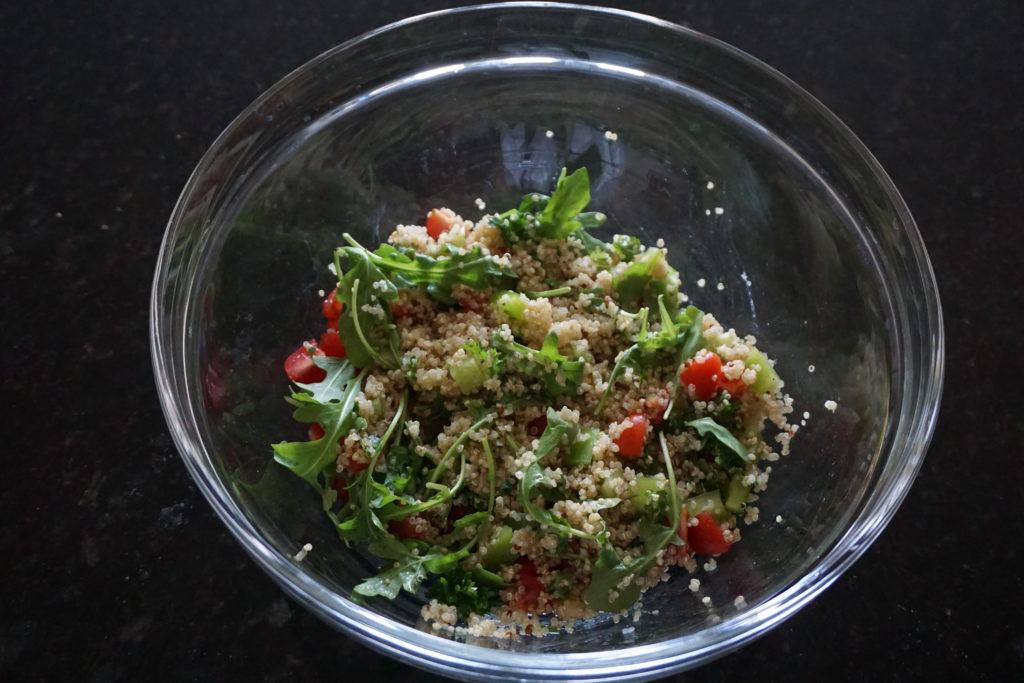 Quinoa & vegetable mixture