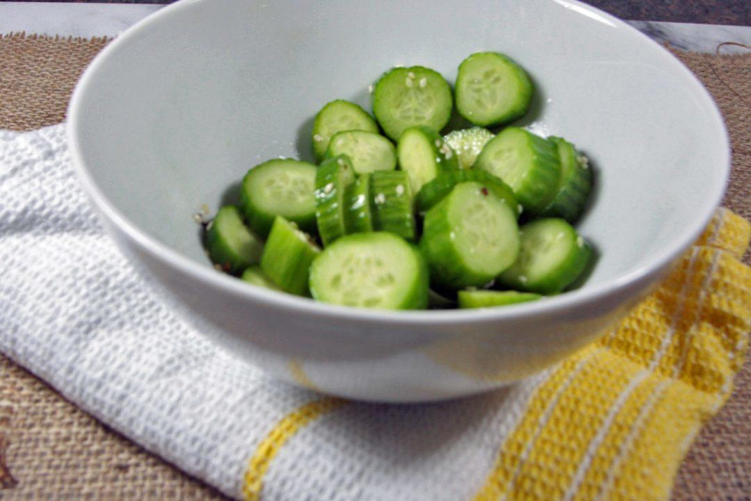 low FODMAP foods - asian cucumber salad