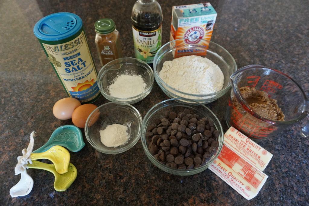 Gluten Free & Low FODMAP Chocolate Chip Cookie Ingredients