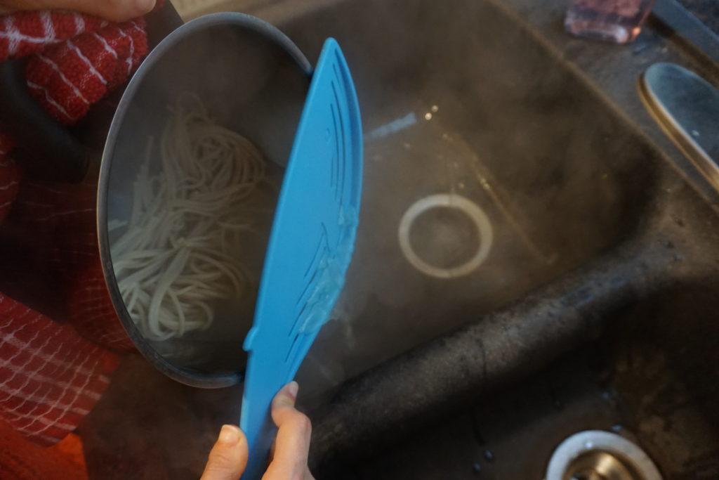 Draining Pasta.