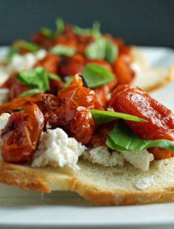 Roasted Tomato & Ricotta Bruschetta