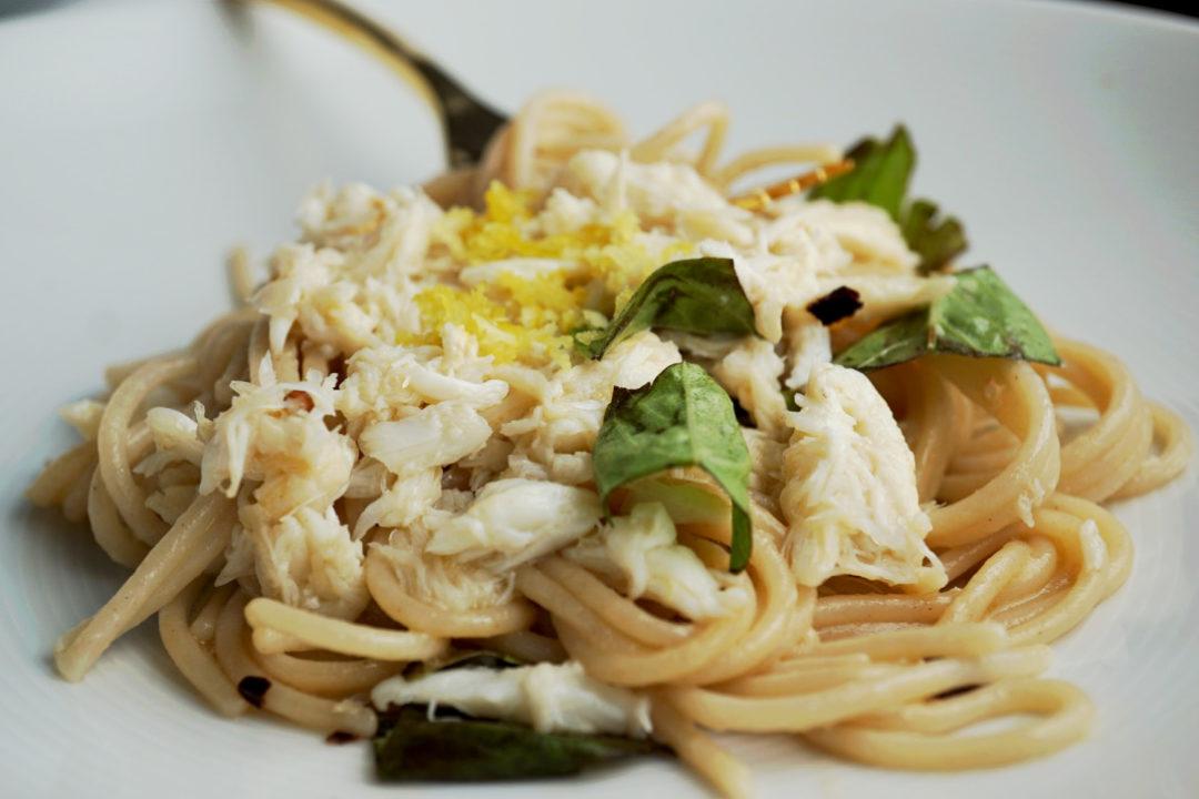Crab Meat, Basil & Lemon Pasta