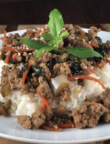 Asian Ground Turkey & Vegetable Stir Fry