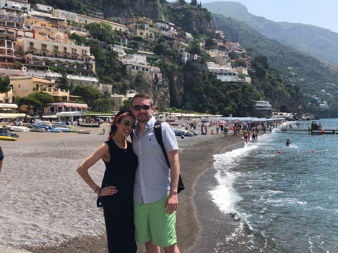 Fodmap Travels Amalfi Coast Eugene And I On The Beach In Positano Italy