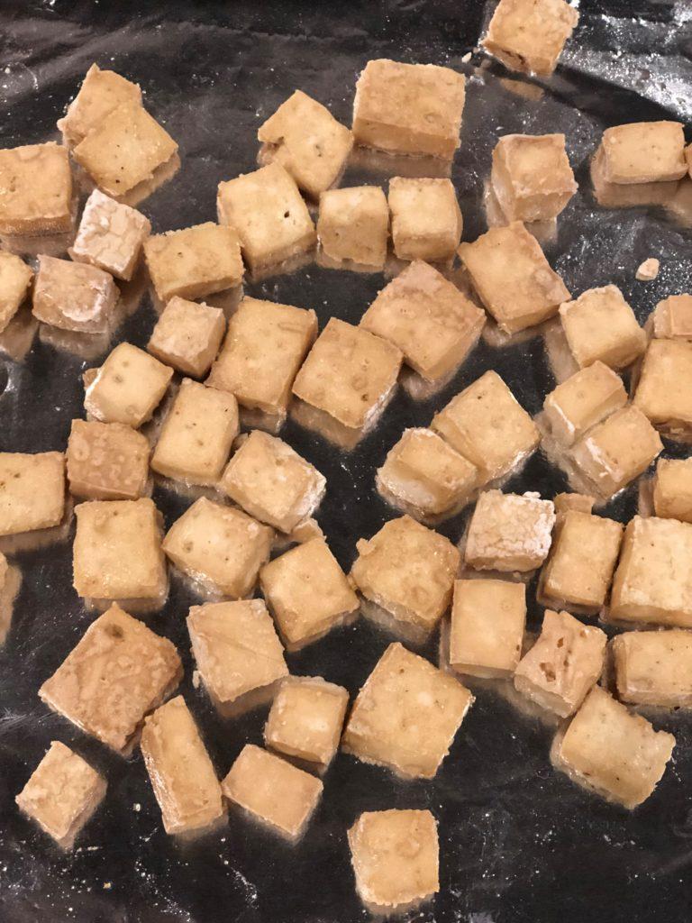 Tofu for Soba Salad