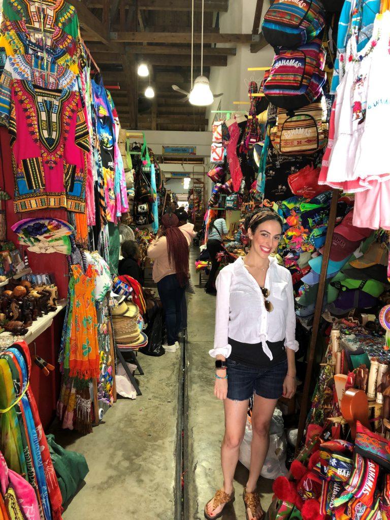 Shopping inside the Straw Market