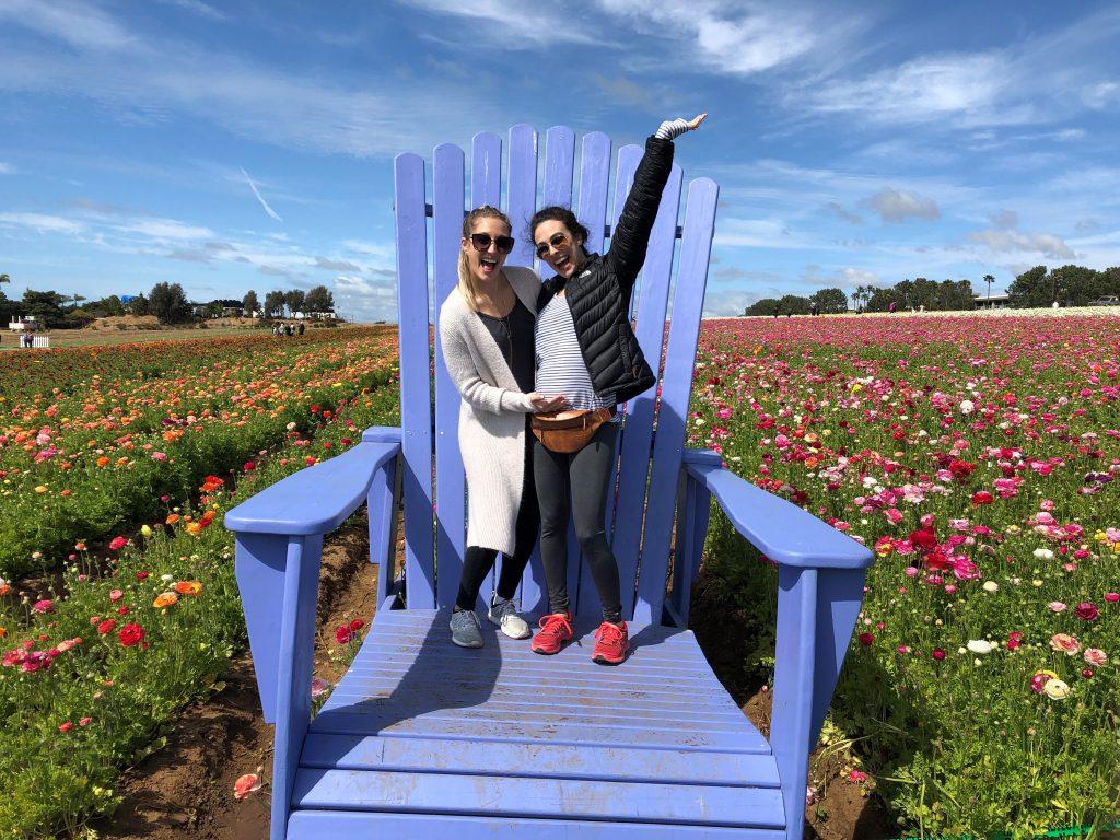 Flower Fields with Evan & Baby