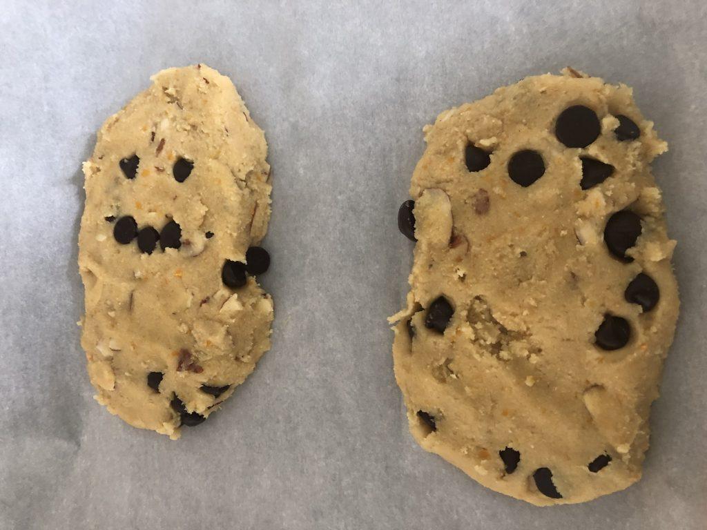 Mandel dough formed into 2 logs