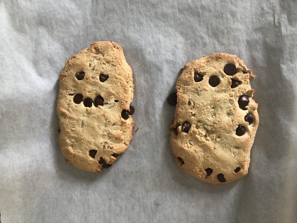Baked mandel bread logs