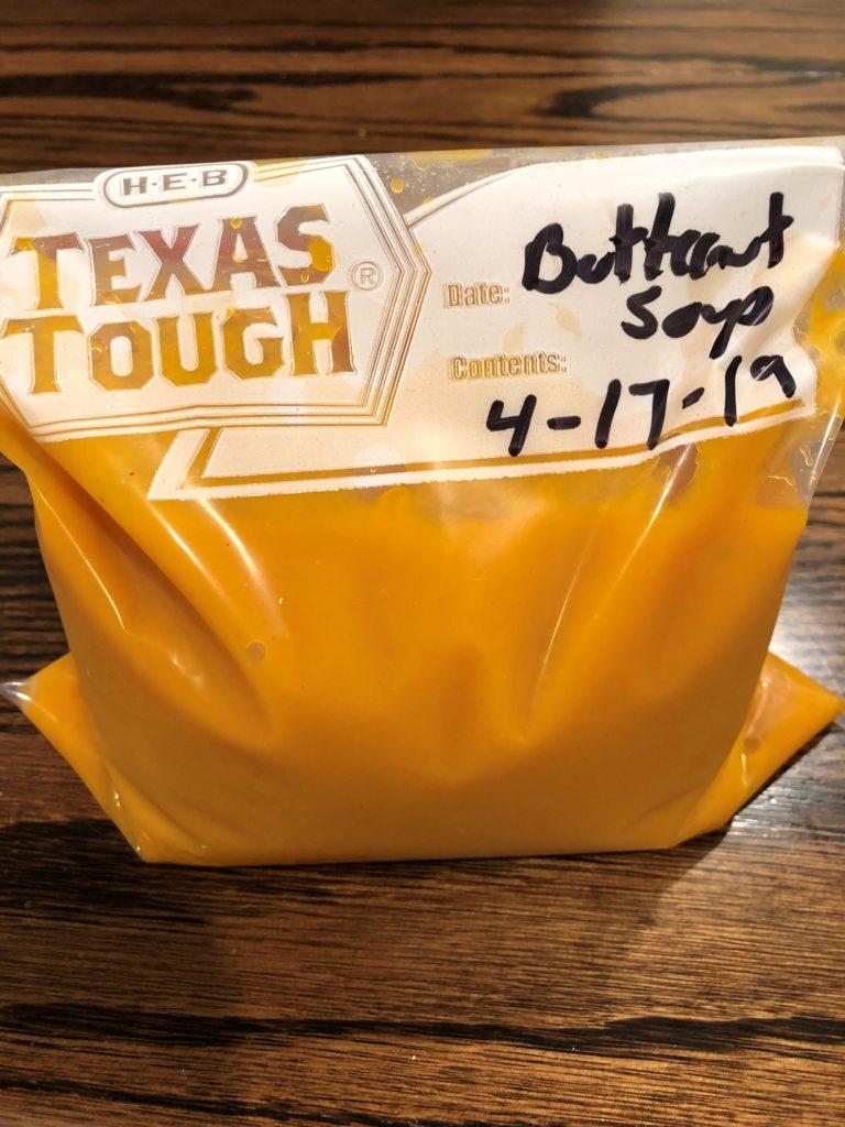 Freezer ready butternut squash soup
