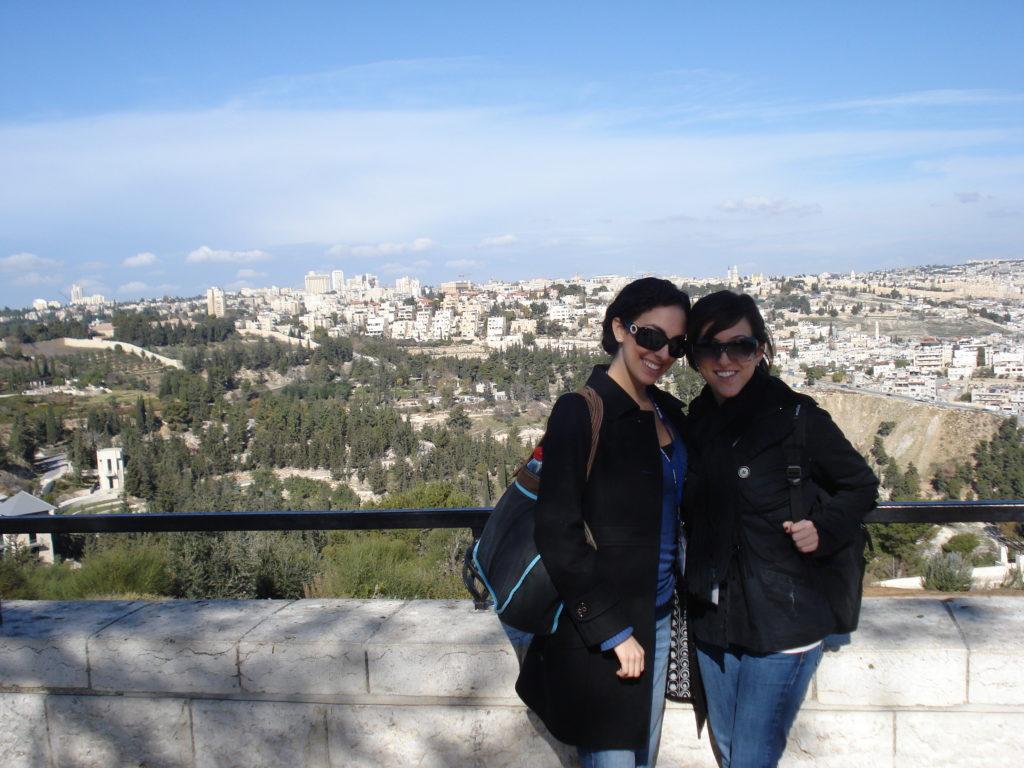 Jodi & I on our Birthright Trip